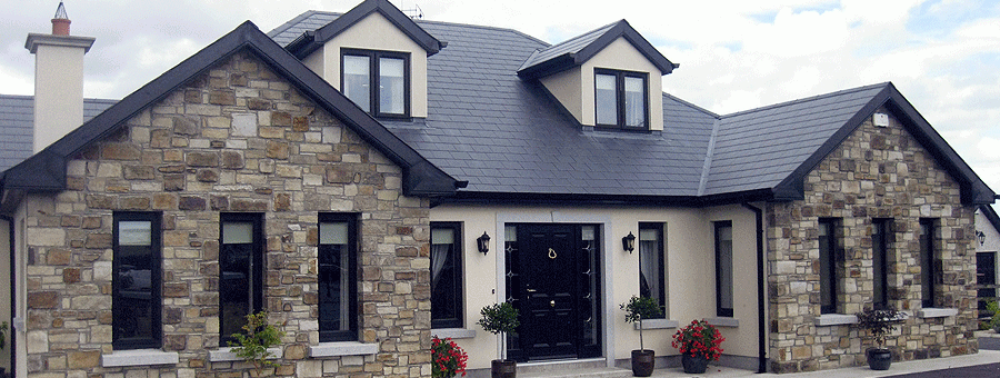 light cream and sandstone house by kilkea stone yard in carlow